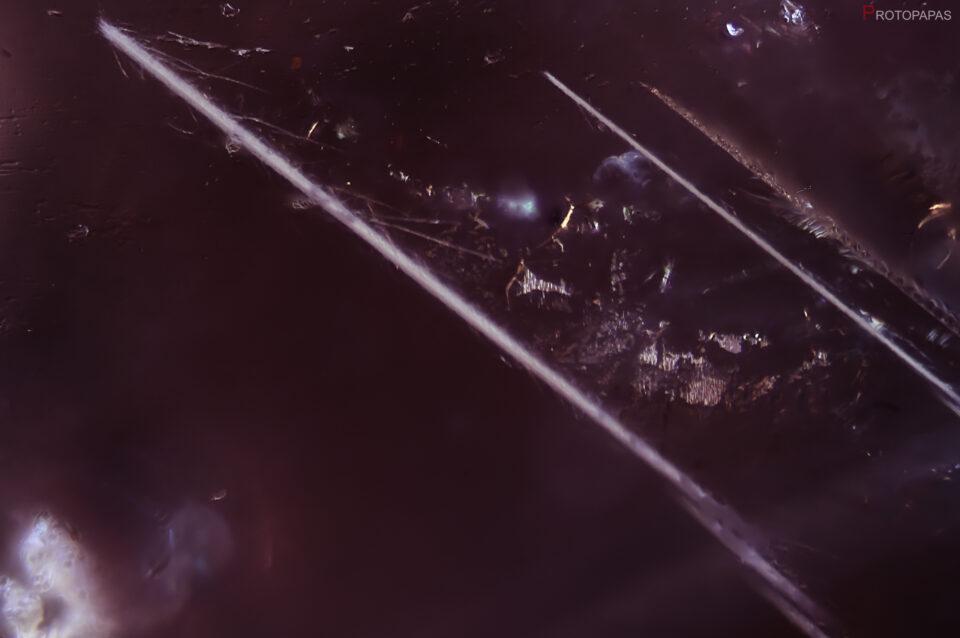 Bohemite? needles in rose Sapphire