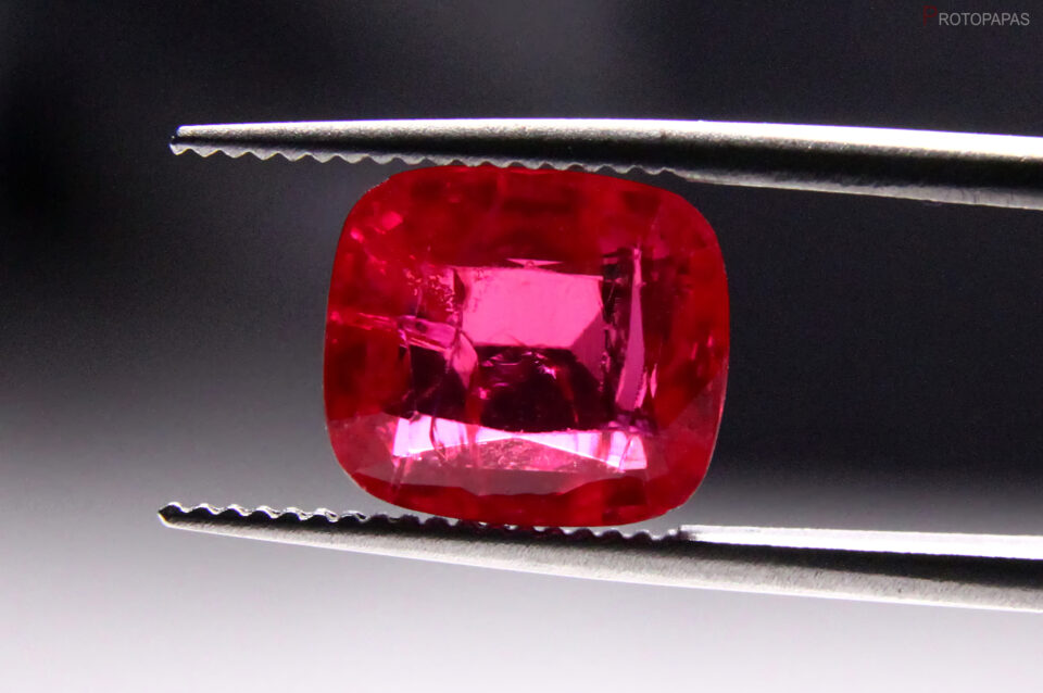 Cracked Synthetic Verneuil Ruby