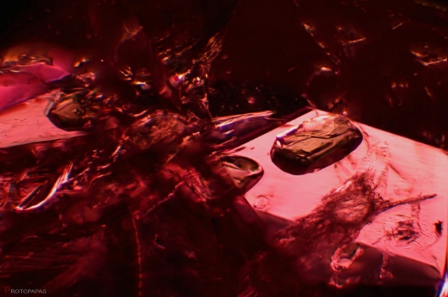 Crystals in unheated Ruby