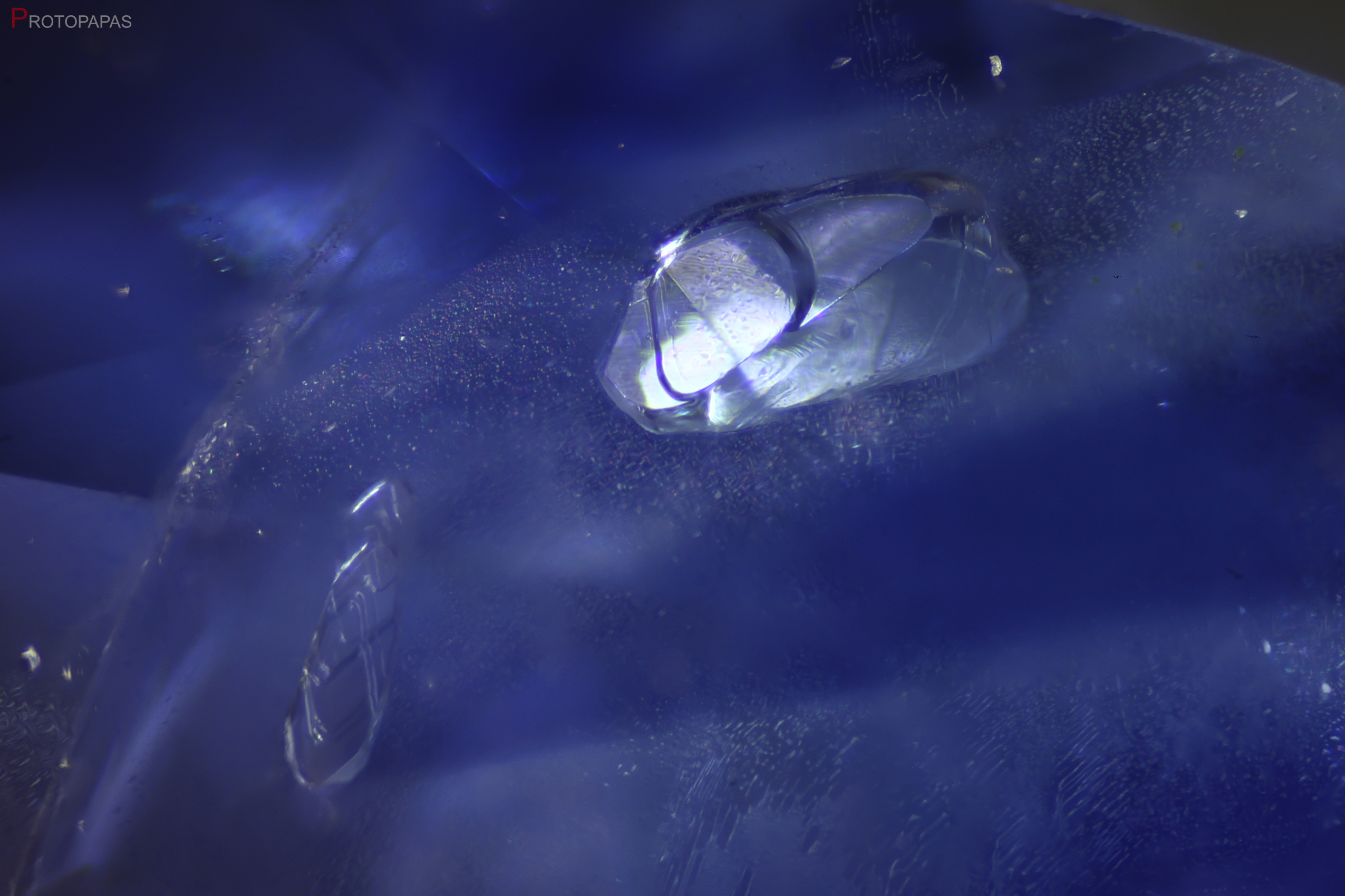 Crystals in unheated Sapphire