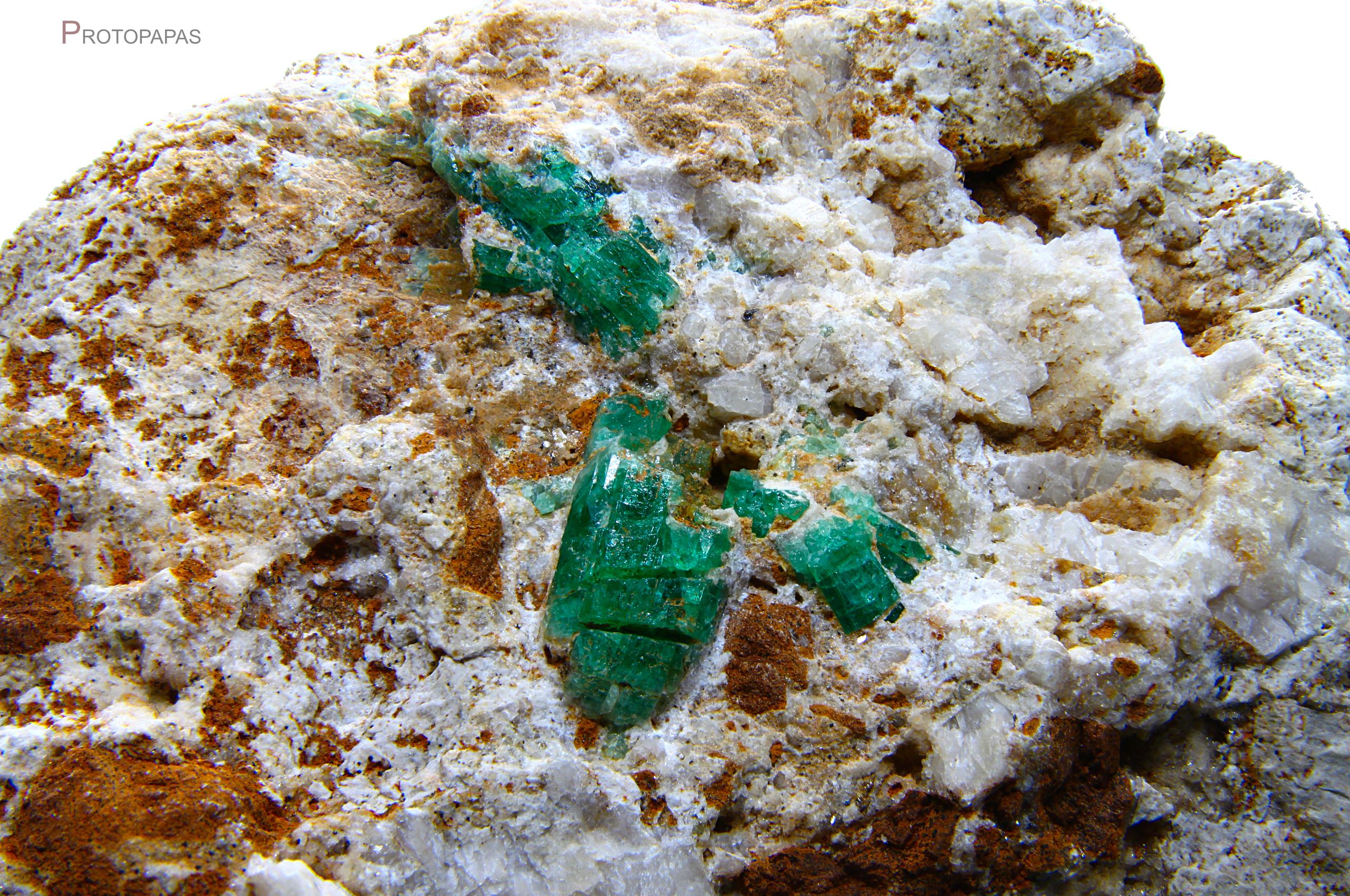 Emerald in matrix from Panjshir in Afghanistan