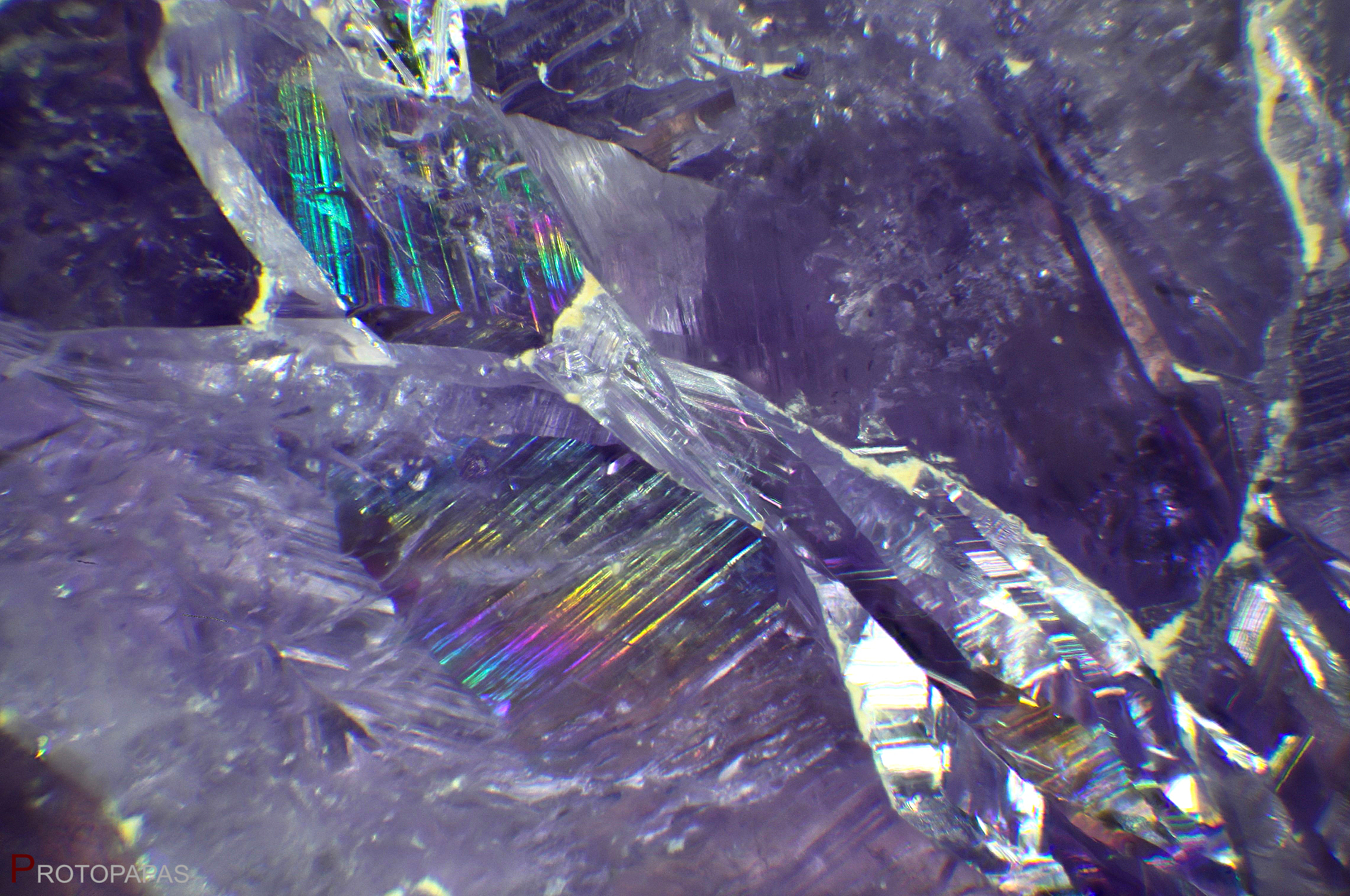 Iridescent planes in Amethyst from Brazil