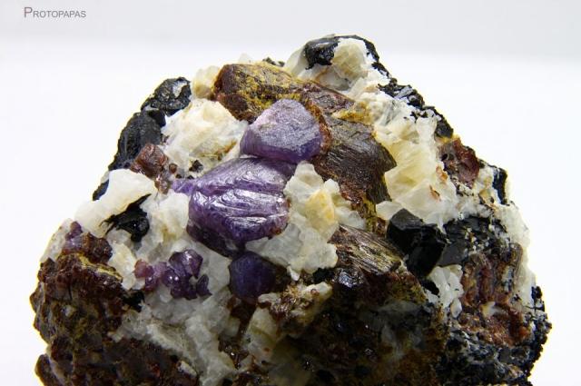 Sapphires in matrix from Zazafotsy quarry in Madagascar