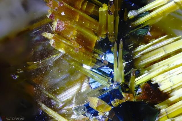 Stars of Rutile with a core of Hematite-Ilmenite in clear Quartz from Brazil