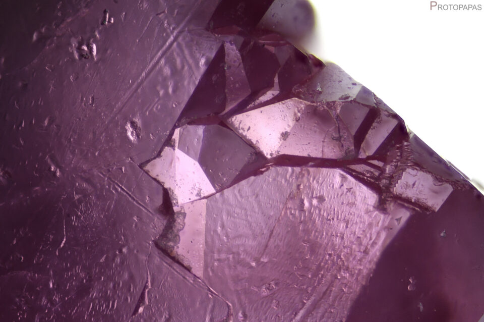 Surface of a Synthetic flux ruby