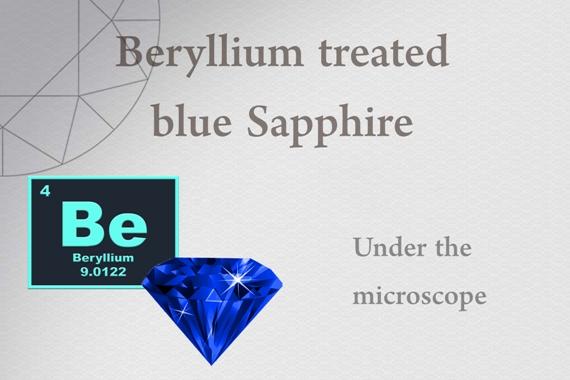Beryllium treated blue Sapphire - Photo by Francesco Protopapas