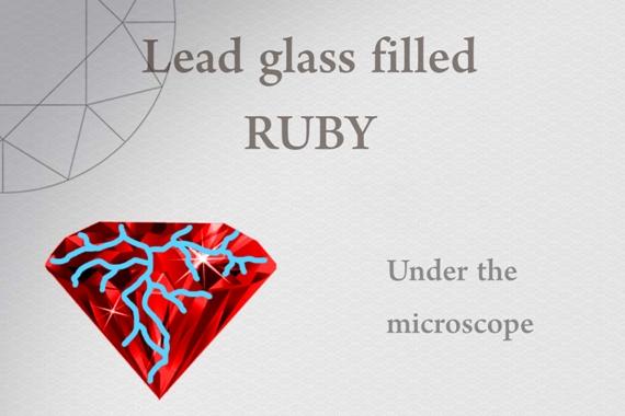 Lead glass filled Ruby - Photo by Francesco Protopapas