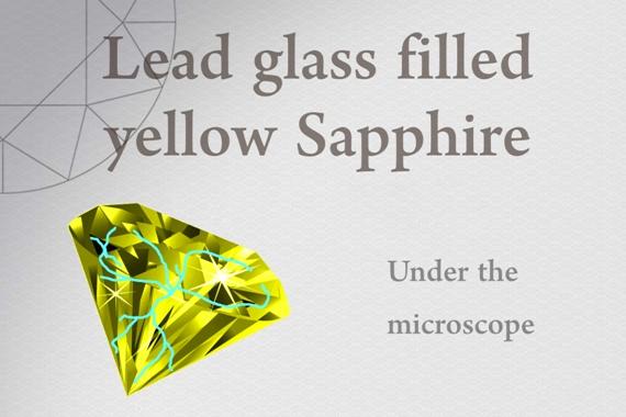 Lead glass filled yellow Sapphire - Photo by Francesco Protopapas