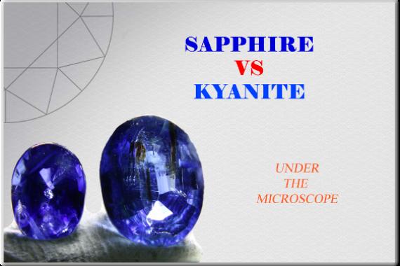 Sapphire vs Kyanite - Photo by Francesco Protopapas
