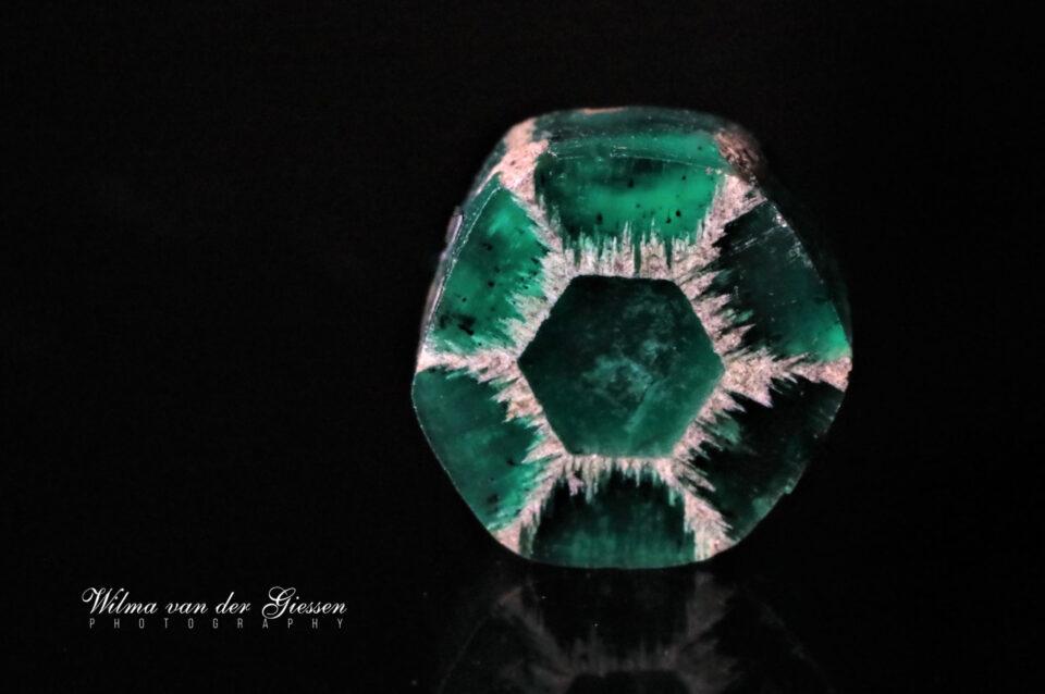 Trapiche Emerald from Colombia. Photo by Wilma van der Giessen