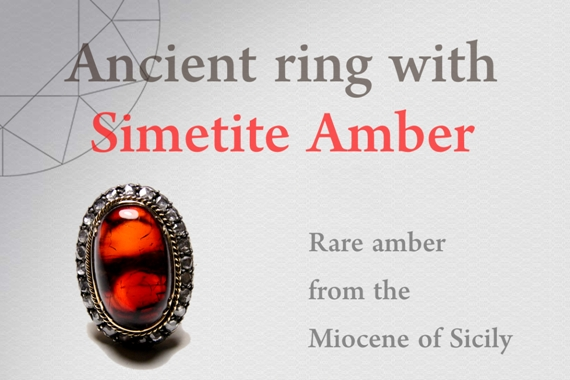Ancient ring with Simetite Amber - Photo by Francesco Protopapas