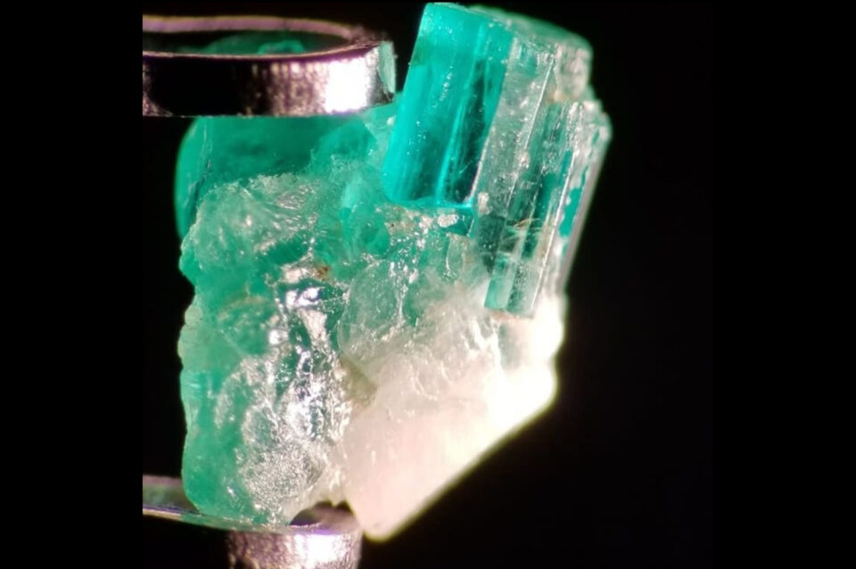 Emerald crystal from Swat, Pakistan. Photo by Fahad Abbas Sheikh