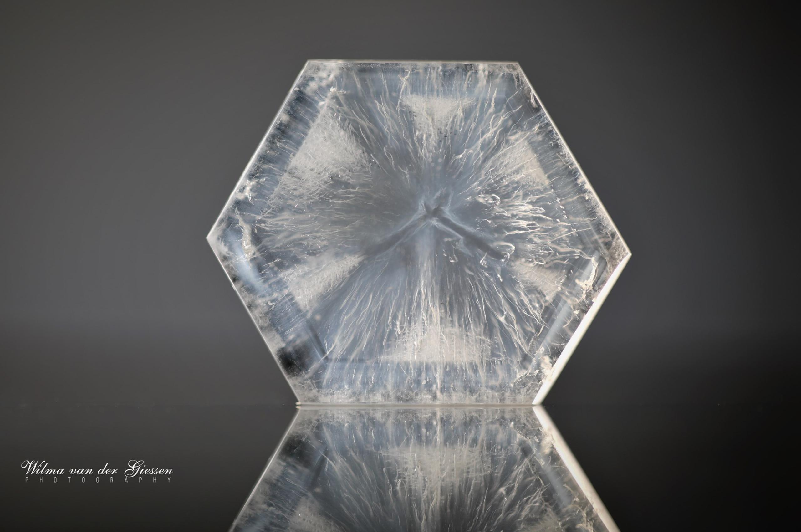 Trapiche like quartz from Colombia. Photo by Wilma van der Giessen