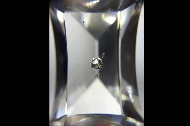 Pyrite inclusions in Quartz from Russia, Astafievskoe deposit. Photo by Igor Bolotovski