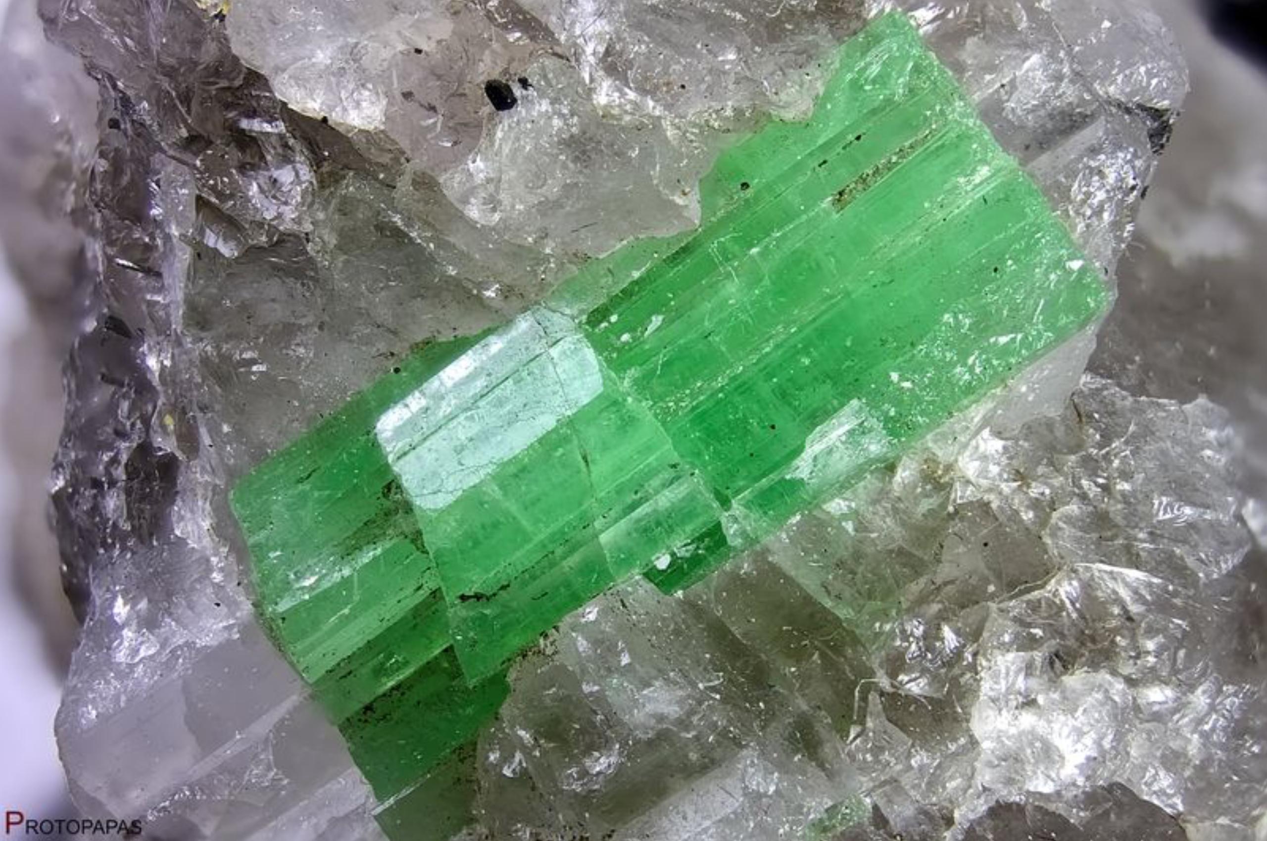 Green Beryl from China. Photo by Francesco Protopapas
